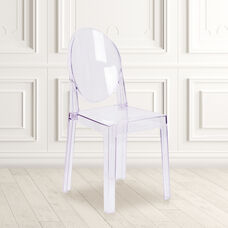 Ghost Chair with Oval Back in Transparent Crystal