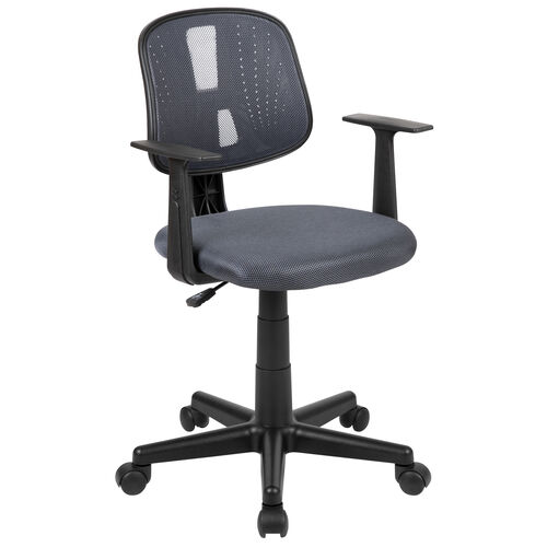 Our Basics Mid-Back Mesh Swivel Task Office Chair with Pivot Back and Arms, Gray, BIFMA Certified is on sale now.