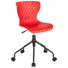 Brockton Contemporary Design Red Plastic Task Chair