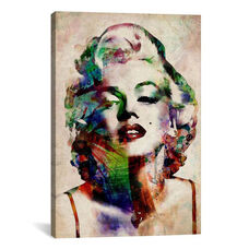 Watercolor Marilyn Monroe by Michael Tompsett Gallery Wrapped Canvas Artwork