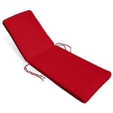 Aqua Chaise Lounge Cushion - Logo Red