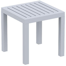 Ocean Outdoor Resin Square Side Table - Silver Gray