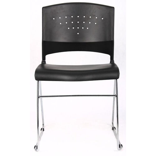 Our Economical Stack Chair with Chrome Frame and Polypropylene Seat - Black is on sale now.