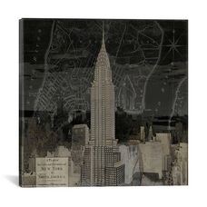Vintage New York In Black II by Dylan Matthews Gallery Wrapped Canvas Artwork