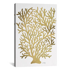 Gold Coral Artprint by Cat Coquillette Gallery Wrapped Canvas Artwork