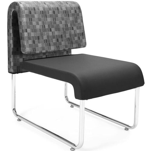Our UNO Lounge Chair - Nickel Back with PU Black Seat is on sale now.