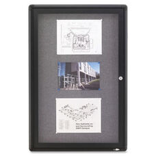 Quartet Radius Frame Fabric Bulletin Board - 36