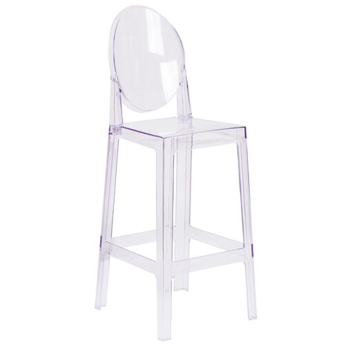 Our Ghost Barstool with Oval Back in Transparent Crystal is on sale now.