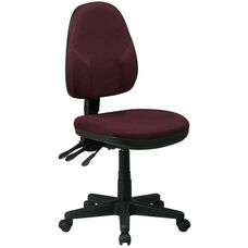 Work Smart Dual Function Ergonomic Fabric Task Chair with Back and Seat Height Adjustment