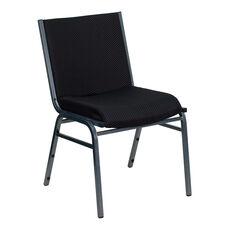 HERCULES Series Heavy Duty Black Dot Fabric Stack Chair