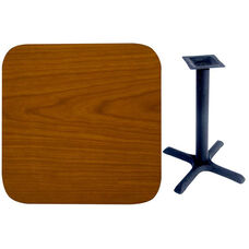 36'' Double-Sided Square Indoor Table Top - Standard Height Cross Base