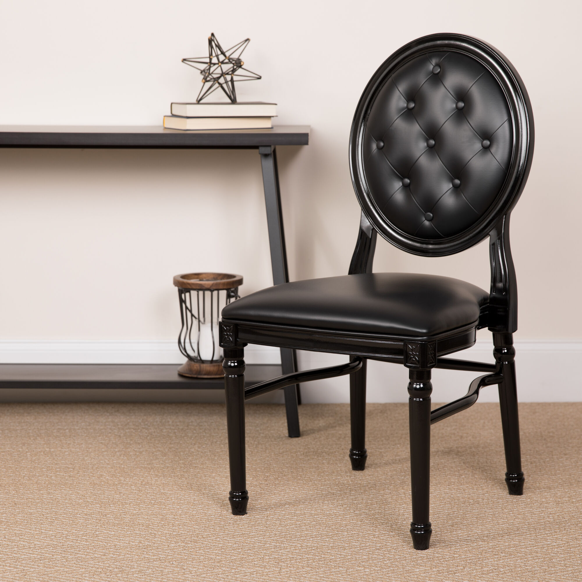 Tufted Black Dining Chair Le B T Mon, Dining Room Sets With King Louis Chairs