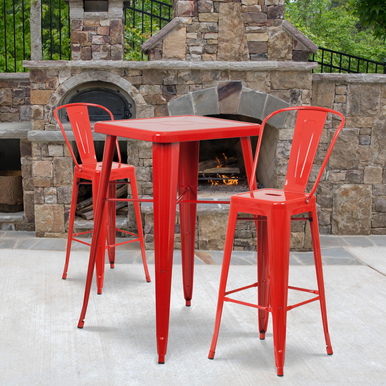 23 75sq red metal bar set ch 31330b 2 30gb red gg restaurantfurniture4less com