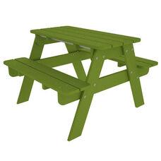 POLYWOOD® Kids Collection Picnic Table - Vibrant Lime