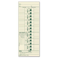 Tops Manila Stock Weekly Time Cards - Pack Of 500