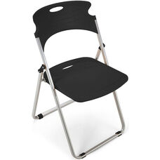 Flexure Folding Chair with Polypropylene Seat and Back - Black