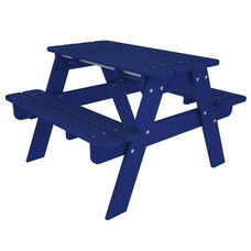 POLYWOOD® Kids Collection Picnic Table - Vibrant Pacific Blue