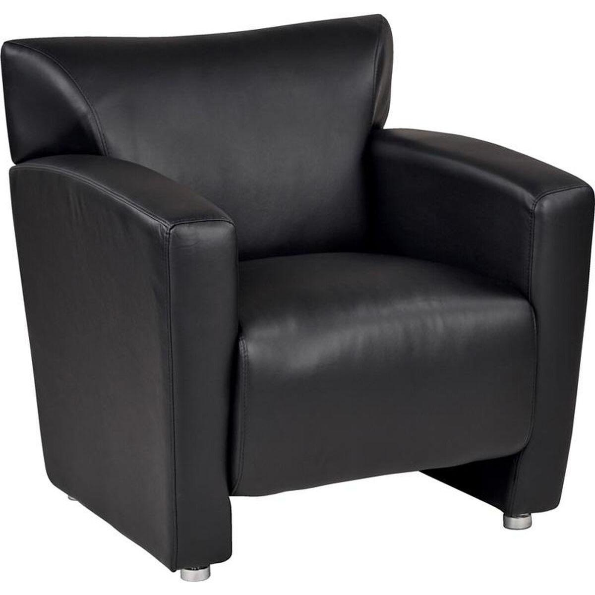 black faux leather club chair sl2911s u6 restaurantfurniture4less com