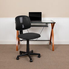 Basics Mid-Back Mesh Swivel Task Office Chair with Pivot Back, Black, BIFMA Certified