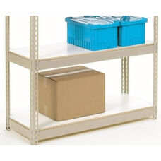 Additional White Melamine Laminate Deck For Rivet Lock Shelving - 36