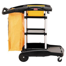 Rubbermaid® Commercial High Capacity Cleaning Cart - 21-3/4w x 49-3/4d x 38-3/8h - Black