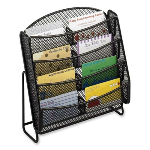 Our Safco Business Card Holder -Mesh -8 Pockets -8 3/4