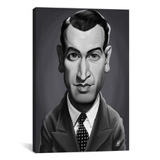 Vintage Celebrity Sunday Series: James Stewart by Rob Snow Gallery Wrapped Canvas Artwork