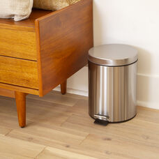 Stainless Steel Fingerprint Resistant Soft Close, Step Trash Can