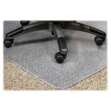 Lorell Medium Plush Pile Wide Lip Chairmat