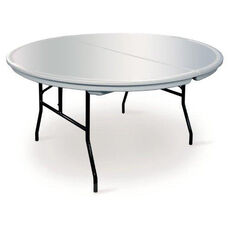 Commercialite Round Polyethylene Folding Table with Locking Legs