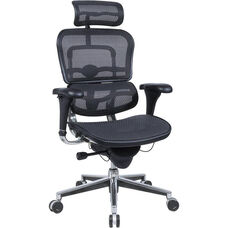 Ergohuman Series High Back 26.5'' W x 29'' D x 46'' H Adjustable Height Mesh Office Chair - Black