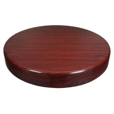 Mahogany Resin Round Indoor Table Top