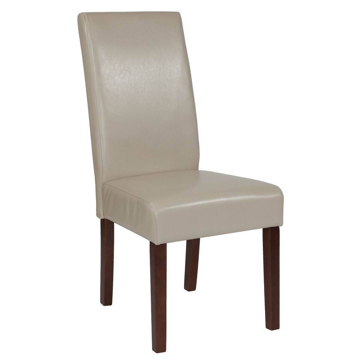 Beige Leather Parsons Chair Qy A37 9061 Bgl Gg