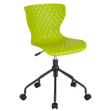 Brockton Contemporary Design Citrus Green Plastic Task Chair