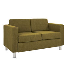 Ave Six Pacific Loveseat with Chrome Finish Legs - Green