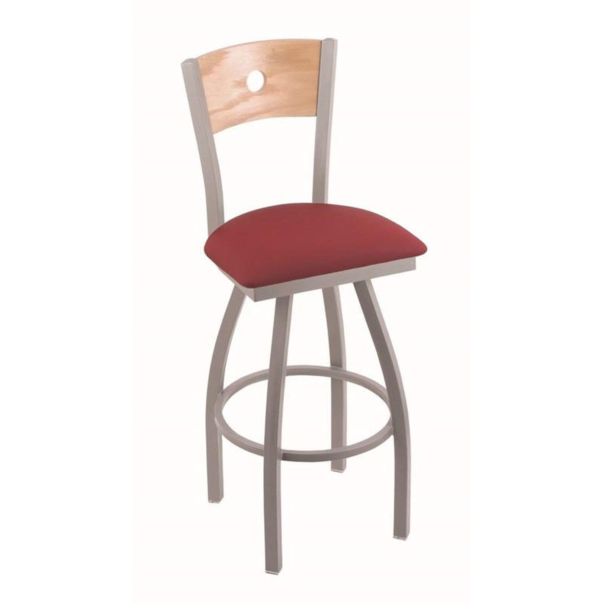 The Holland Bar Stool Co Voltaire 25 Anodized Nickel  : THEHOLLANDBARSTOOLCO83025ANNATOAKBALWINE HOBMAINIMAGE from www.restaurantfurniture4less.com size 2000 x 2000 jpeg 106kB