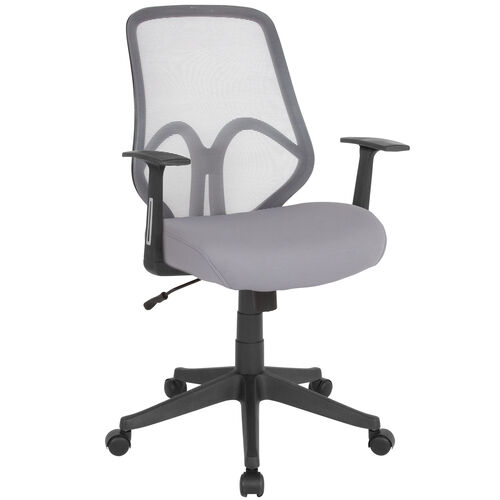 Our Salerno Series High Back Light Gray Mesh Office Chair with Arms is on sale now.