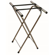 Chrome Folding Tray Stand with Nylon Straps