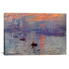 Sunrise Impression by Claude Monet Gallery Wrapped Canvas Artwork