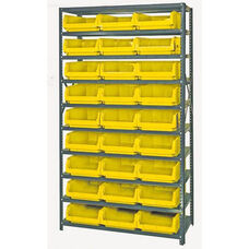 Magnum Shelving Unit with 27 Bins - Yellow