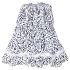 Rubbermaid® Commercial Web Foot Finish Mop - White - Med - Cotton/Synthetic - 1