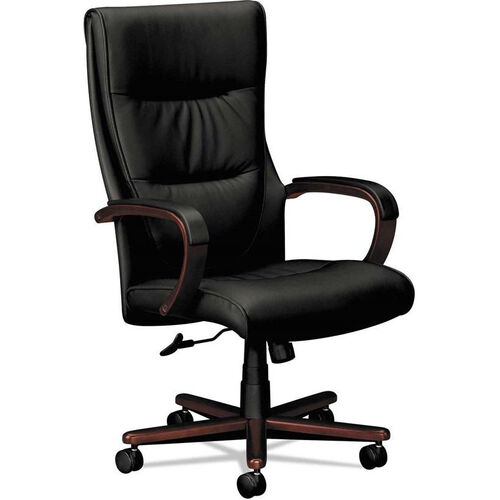 Our Basyx® VL844 Series Leather High-Back Swivel and Tilt Chair with Mahogany Frame - Black Leather is on sale now.