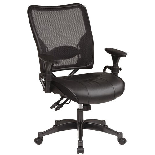 Our Space Dual Function Air Grid Back Managers Chair with Leather Seat - Black is on sale now.