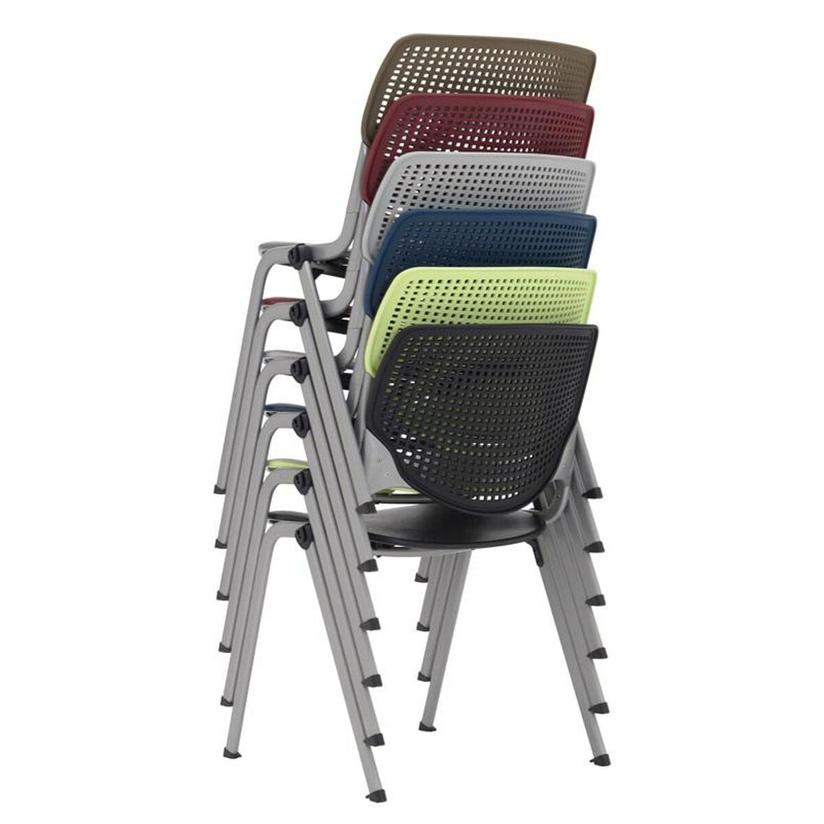 kool furniture. Our 2300 KOOL Series Stacking Poly Armless Chair With Perforated Back  And Silver Frame - Brownstone Kool Furniture