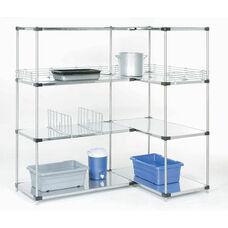 Galvanized Solid 4 Shelf Unit - 18