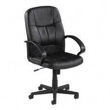 Lorell Chadwick Series Leather Managerial Mid Back Chair