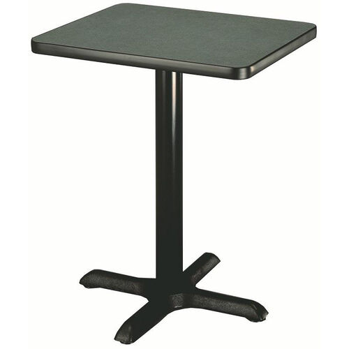 Laminate Top Pedestal Square Table with Cast Iron X-Base - 30