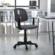 Basics Mid-Back Mesh Swivel Task Office Chair with Pivot Back, Gray, BIFMA Certified