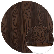 """42"""" Round Rustic Wood Laminate Table Top"""