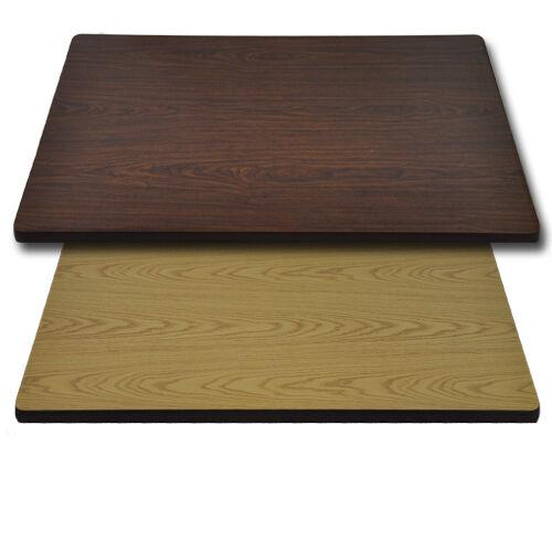 "Advantage 24""x42"" Restaurant Table Top - Oak / Walnut Reversible"